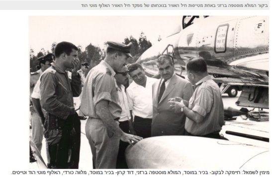 Visit of Mullah Mustafa Barzani in one of Israeli Air Force Squadron