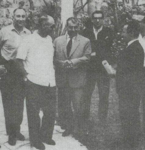 MOSAD's Head Meir Amit, Israel Defence minister Moshe Dayan, Molla Mustafa Barzani, Rehavam Zeevi and Mahmud Osman