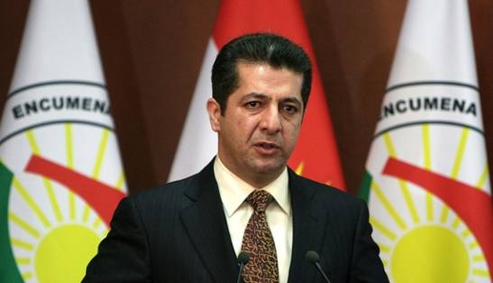 Masrour Barzani, Chancellor of the Kurdistan Region Security Council, speaks during a press conference on October 12, 2013. Tight security measures imposed after a rare deadly attack in Iraq's autonomous Kurdistan region have curbed tourism ahead of the year's biggest Muslim holiday, industry officials and business owners say. AFP PHOTO / SAFIN HAMED        (Photo credit should read SAFIN HAMED/AFP/Getty Images)