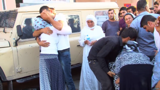 DIHA- Image captionMany people have been killed in Cizre since the military operation began
