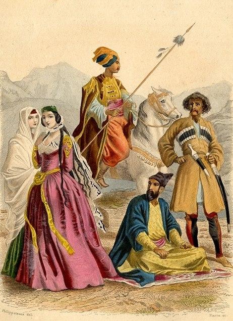 Cavalier Kurde, Circassien. Eastern Kurdistan, 1859