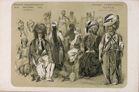 Kurdish costumes Vasily Timm 1855
