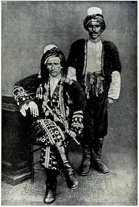 The Kurdish Lord with a servant  c1920 KURDISTAN A Page and reverse from People of All Nations, their life story today and the story of their past captured in numerous photographs edited by J A Hammerton. Countries include Abyssinia, Afghanistan, Albania, Algeria, Andorra, Annam, Arabia, Argentina, Armenia, Australia, Austria, Azerbaijan, Belgium, Belgian Congo, Bhutan, Bolivia, Bokhara, Brazil, British empire in Africa, and the British empire in America. Dates c 1920 size of each page is approx 9.5 x 6 inches (240 x 150) all are genuine prints and not copies.