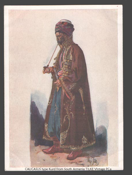 Publisher: Georgia Museum Series# Peoples of Caucasus in national suits by Tilke Number# 30 Caption: Kurd from South Armenia